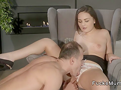Perfect ass Milf banged in armchair