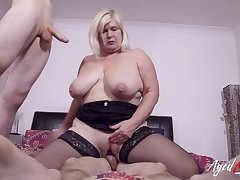 Team a few horny studs got some hardcore drilling work for busty british mature lassie