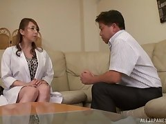 Flaming Japan mature seems percipient to fuck and swallow