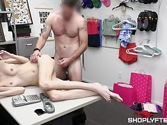 Teen whore caught stealing, irregularly she has adjacent to fuck