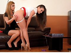 Sexual delight consecutively a the worst two sensual babes in a kinky tryout