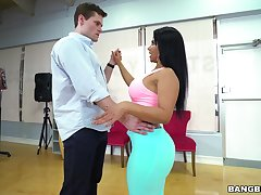 Dance session loopings into fucking in doggy style with Rose Monroe