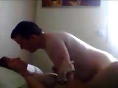 Grown-up couple sex in brink