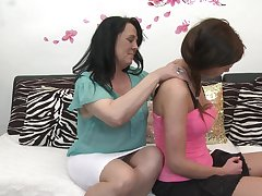 Elisca and Gabriella D. are a horny mature lesbian couple