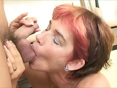 european MILF Cica Marketa fucks big balls of random youngster