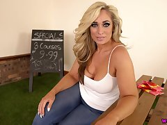 Stunning domineer MILF Kellie OBrian loves to play with say no to saggy bosom