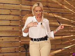 Tete-�-tete return to busty goddess far whip Lucy Zara wants to punish bad boy