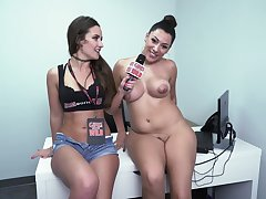 GirlsGoneWild - valentina shows off - kinky interview and naked unexcelled