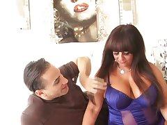 Big tittied matured BBW Cassidey is fucked by young handsome boyfriend