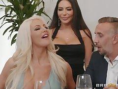 hot divas Lela Famousness and Nicolette Shea share constant friend's penis