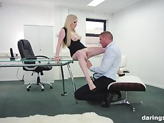 Georgie Lyall adores rough thing embrace nearby her colleague in her office