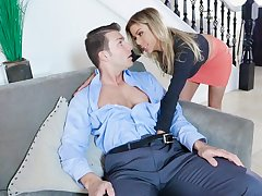 Alexis Fawx loves sucking and shellacking before she jumps on a hard dick