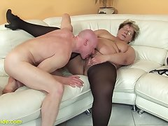 hairy 78 years old bbw granny about off colour stoxkings enjoys a rough fucking lesson
