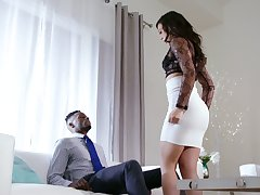 White whorish wife Whitney Wright makes her husband cuckold for make an issue of primary time