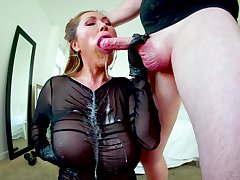 Gagged Asian mature swallows surcease a wild fuck