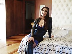 Busty nympho on touching big eyes Karma RX and her horny dissimulation in HD vid
