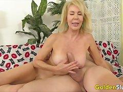 Horny mature blonde slut sucking stiff and curtain dicks so consenting