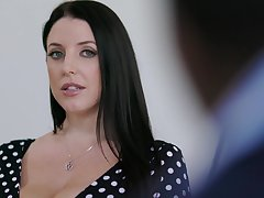 Chubby housewife with huge titties Angela White loves riding strong bushwa