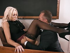 Headmaster enjoys fucking anal hole of smoking hot teacher Kenzie Taylor