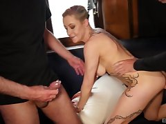 Sophistry blonde wife Klara gets fucked in awesome triad