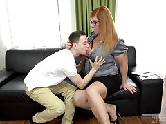 Sophomore student fucks chubby professor with huge boobs Tammy Jean