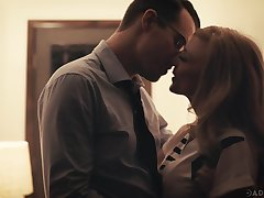 Beautiful aged unfocused Nina Hartley has an affair here one handsome man