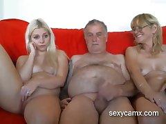 Grandpa and grandma coax young horny granddaughter live at sexycamx
