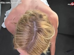 MyDirtyHobby - Hot German MILF apple of someone's eye up and creampied POV