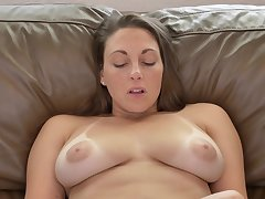 Sexy MILF has a playful attitude increased by she masturbates like a champ