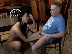 Old young slave together with mistress feet first time Can you