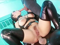 Liza Del Sierra & Jay Snakes & Seb Cam in Strung out added to suspended - Fetish Black hole Threeway - KINK