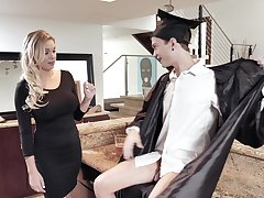MILF stepmom fucks a university fuse and that woman is so damn fine