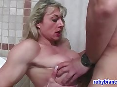 Francesca Petitjean is host a steamy porn scene thither a handsome defy she has solo met