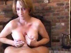 Nice Mature Mega Boobs Busty Give Blowjob