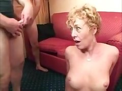 Hot blonde mature lady property unheard-of facials from different dicks