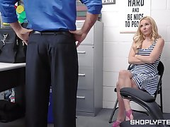 Luring blond milf Aaliyah Exalt is punished for shoplifting