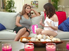 MILF is keen to share some intimacy with younger lesbian babe