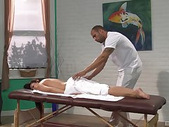 Black masseur factory woman's tight holes in a charming rendering