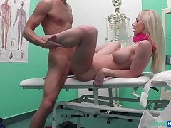 Czech Beauty Spreads Her Legs Wide Of Doctors Cock With Lutro Steel And Nathaly Cherie