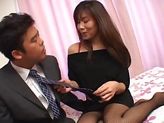Passionate fucking fro fit ass Japanese girl Yu Izawa in stockings
