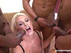 Blanche Bradburry loves playing give with respect to black cocks insist