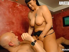 Fat Ass Brunette Kim Schmidts - BBW German Grown-up Rough Drilled By Lusty Lover - Deepthroat