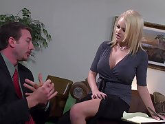 Busty wife moans while object fucked far her orgasmic pussy