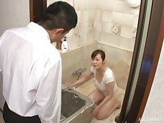 Japan adult suits pussy with tasty dong
