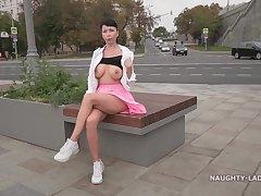 Naughty Russian Milf Lada - Upskirt Dishwater